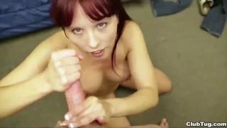 redhead girl handjob