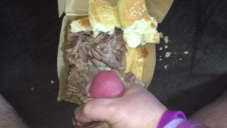 When A Roast Beef Sandwich Reminds You Of Your Ex's Pussy So You Fuck It