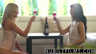 NubileFilms - Lesbians cum harder