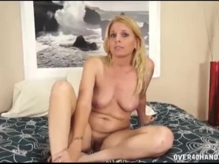 Pink pussy white girls naked milf touching herself before jerking a dick over40handjobs mom
