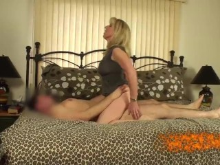 Mature Blonde Fucks Her Young Pornhub Subscriber
