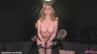Hot babe Angela Sommers finger banging that pussy good