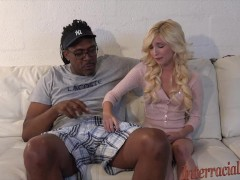 tiny 80lb blonde takes 12 inches of massive black meat