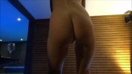 Sexy dance at wellness spa