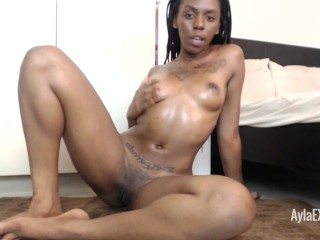 Ayla - Oiling up my Beautiful Brown Body