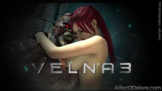 Amustevens Velna 3 Trailer – Release 9/24/16 – Monster Fucks Hot Red Head