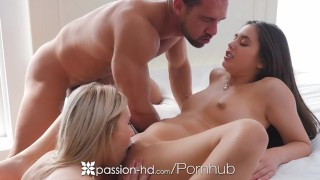 Friends threesome doll dude in passionhd and coast lucy fucks peyton hardcore threesome