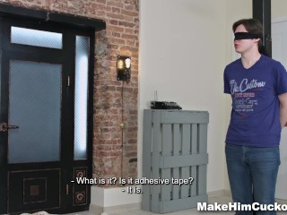 Make Him Cuckold - Cum-covered cuckold revenge