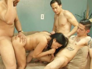 sweaty asian milf gangbang with Lucky Starr