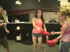 Break Time Boxing Allison Banks, Alyssa Hart and JC Simpson
