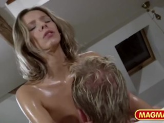 Really Fucked Up Movies German Oil Massage, Big Dick Big Tits Milf Pornstar Massage