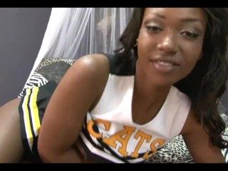 black teenage college coed cheerleader gangbang with skylar nicole