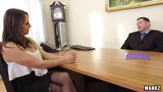 Exploited college naive hottie luvv sara man by older interview wankz