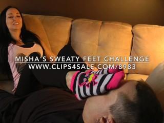 Misha's Sweaty Feet Challenge - www.c4s.com/8983/16313046