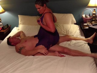 Bbw Housewife Anal Milf Becky Tailor Fucks And Rides Dick In Purple Nightie