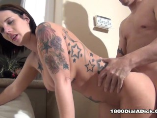 800DAD Debrah Ann needs her pool cleaned then her pussy demolished hard