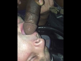 Sucking discreet black thug