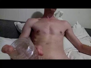 hot cock muscle twink strocking thick dick and fucking his fleshlight