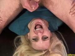 Blonde Milf Anal Facial Fun