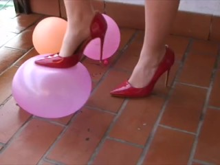Heels and ballons