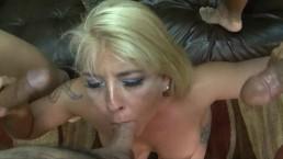 Blonde milf hairy bush ballbusting gangbang with Joclyn Stone