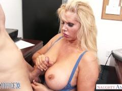 Big tits blonde Karen Fisher bangs her office co-worker - Naughty America