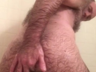 Masturbating in shower
