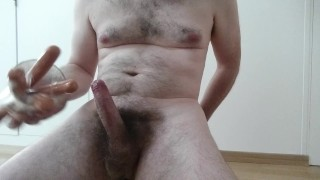Five cumming sausages - lick / swallow own cum after male solo & soft start