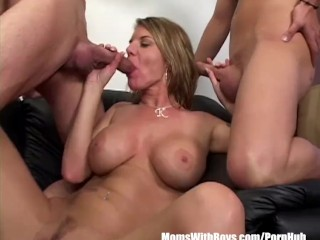 Sex On The Stage Angry Boss Kayla Quinn Fucks Two Insubordinate Employees, Blonde Milf Pornstar Threesome