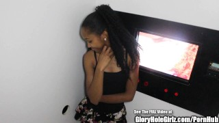 Petite Ebony Beauty Nice Ass Glory Hole Blowjobs  ebony blowjob amateur gloryhole small tits young cock sucking reality petite teenager nice ass glory hole natural tits gloryholegirlz