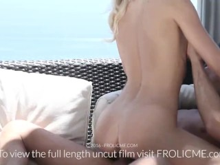 FROLICME.com - Beautiful blond teases boyfriend before fucking him image