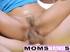 Teen shares monster cock with step mom and licks creampie pussy S2:E9
