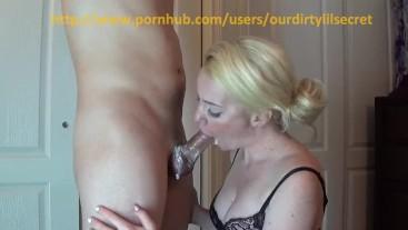 POV Messy Sundae Blowjob - Swallowing cum with dessert - Ourdirtylilsecret