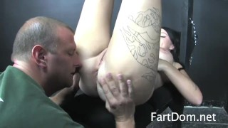 Femdom Brittany Lynn Takes Control With Bondage Fart Licker  ass worship rimjob bdsm humiliation femdom domination kink rimming farting buttholes big butt ass licking ass eating fartdom assholes