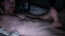 jerkin on 2 my abs,w a smile & goatee