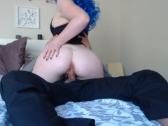 Creamy pussy Emmarae riding dick with oral creampie