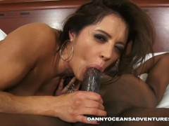 DOCEAN Hot Latina Milf rides black cock until she explodes