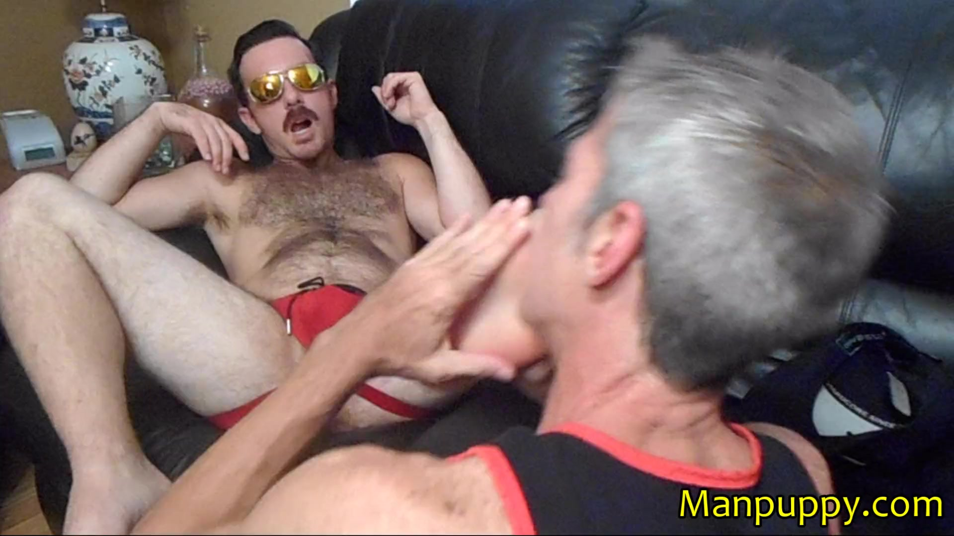 Beargaysvideos Porno bear cub foot domination on gay dilf - richard lennox