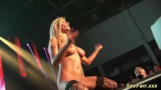 Public on stripping stage milf busty live voyeur