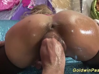 completely hand deep in her pussy