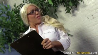 Busty Cougar Alexis Diamonds gets BBC Anal amateur anal tube