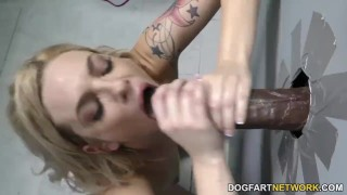 Dahlia Sky Does Anal at Gloryhole  big black cock ass fuck blonde gloryhole pornstar cumshot hardcore kink interracial dogfartnetwork brunette gagging deepthroat anal glory hole natural tits ass to mouth