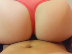 Handjob cum in panties and then wears it! ( pantyjob) and fucking )