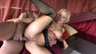 And stockings britney high in busty fucked heels fishnet stiletto