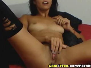 Sexy Amateur Brunette Girl Solo Masturbation