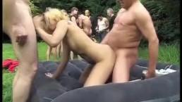 german groupsex garden party