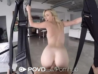 POVD - POV blonde Peyton Coast fucked on a sex swing