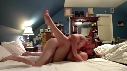 Stripped down cougar sensually fucked then receives a creampie....