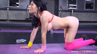 Brazzers fucked sophia gets laure yoga at big anal