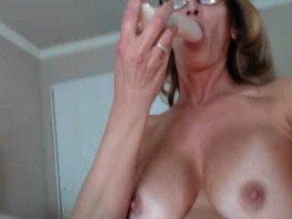Milf with tits out